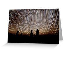 Pinnacles Star Trails Greeting Card