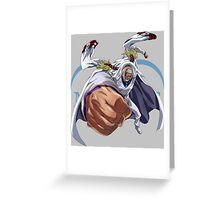 one piece monkey d garp vice admiral anime manga shirt Greeting Card