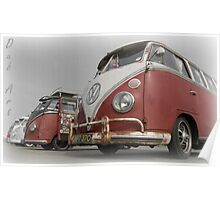 VW Bus line up Poster