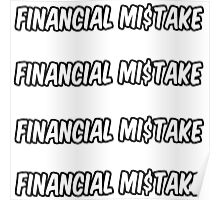 4 financial mistake stickers Poster