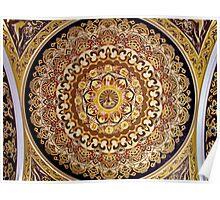 Ceiling Detail, Buddha Palace, Lingshan, Wuxi, Jiangsu, China Poster