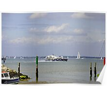 Hovercraft Passing Ryde Harbour Mouth Poster