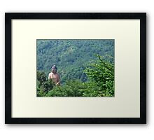 Compassion in the mountains Framed Print