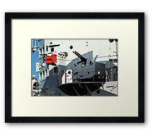 Guns on HMS Belfast Framed Print