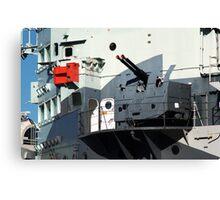 Guns on HMS Belfast Canvas Print