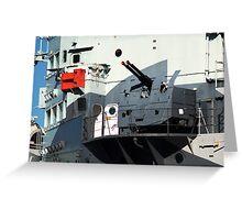 Guns on HMS Belfast Greeting Card