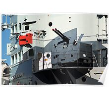 Guns on HMS Belfast Poster
