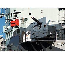 Guns on HMS Belfast Photographic Print