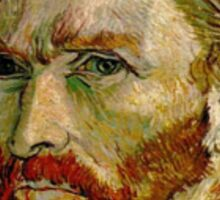 Van Gogh Self Portrait 3/5 Sticker