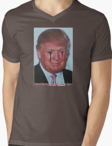 Blood Coming Out of Trump's Eyes Mens V-Neck T-Shirt