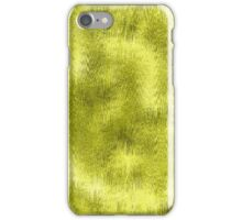 Yellow Green Wet Glass Pattern iPhone Case/Skin