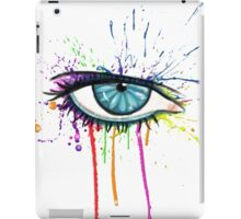 Eye Splatter (White) iPad Case/Skin