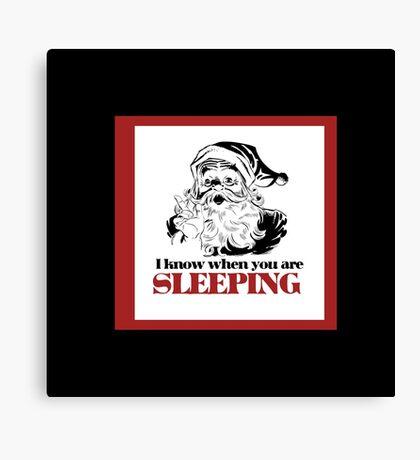 creepy santa claus humor Canvas Print