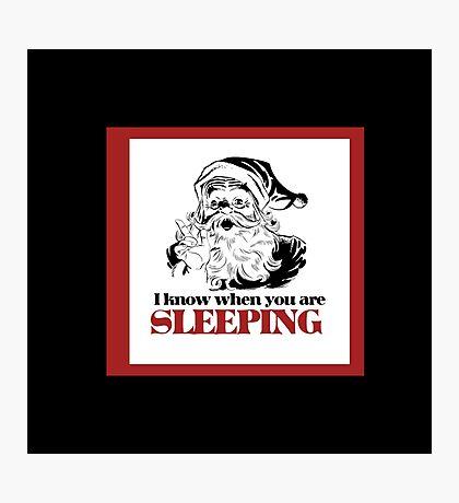 creepy santa claus humor Photographic Print