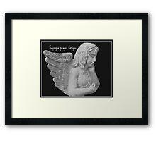 Angel Saying a Prayer For You Framed Print