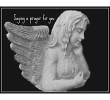 Angel Saying a Prayer For You Photographic Print