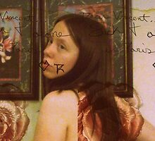 Dear Vincent (Self Portrait with Texture and Words) by Cari Moore