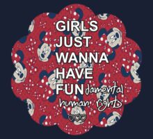 Girls Just Wanna Have Fundamental Human Rights One Piece - Short Sleeve
