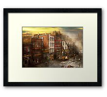 Fireman - Washington DC - Fire at Bedell's Bedding 1915 Framed Print