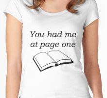 You Had Me At Page One Women's Fitted Scoop T-Shirt