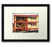 Stairs and Flowers Framed Print