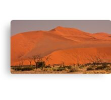 Sand rises over a past of trees Canvas Print