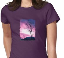 Into the Pink & Purple Sky - JUSTART © Womens Fitted T-Shirt