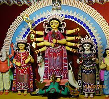 Durga Puja, Rajdanga, Kasba, Kolkata, India by Mahesh Kumar