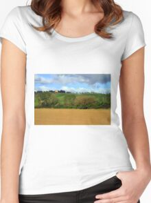 Tuscany landscapes  Women's Fitted Scoop T-Shirt