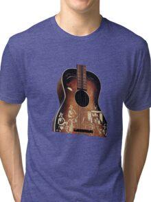 Cowboy Guitar Tri-blend T-Shirt