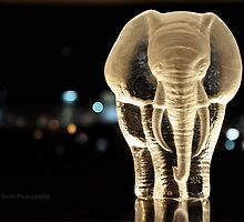 Elephant and the city by VioletKashi
