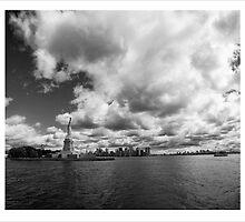 Liberty and Manhattan by DamianBrandon