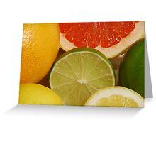 Citrus Fruit Still Life Greeting Card