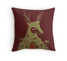 Stag at the Heart of the Mountain Throw Pillow