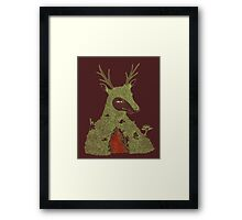 Stag at the Heart of the Mountain Framed Print
