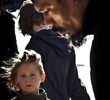 His biggest fan... ( little boy listening to street music) by faceart