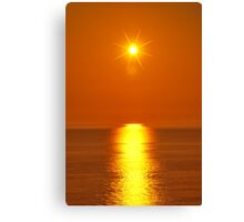 Sunset over the Irish Sea at Morfa Bychan Canvas Print
