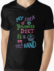 My idea of a balanced diet is a cupcake in each hand-light Mens V-Neck T-Shirt