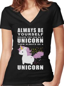 Always - Unicorn Women's Fitted V-Neck T-Shirt