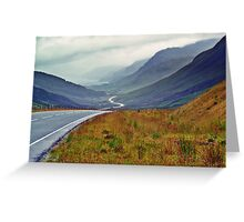 A Winding Road To Stormy Clouds Greeting Card