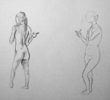 Gesture Drawings I by LaNanDeSha