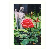 Angel with Roses 2 Art Print