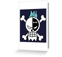 one piece straw hat franky jolly roger anime manga shirt Greeting Card