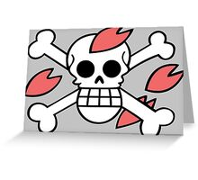 one piece dr hiluluk chopper jolly roger anime manga shirt Greeting Card