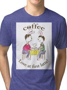Rabbits. Love At First Latte. Tri-blend T-Shirt