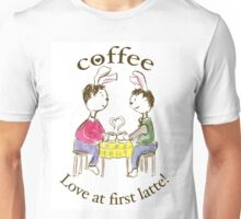 Rabbits. Love At First Latte. Unisex T-Shirt