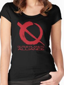 Outer Planets Alliance - Radical Version Women's Fitted Scoop T-Shirt