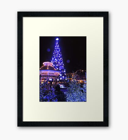 Blue, White and Cosy Framed Print