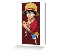 one piece straw hat monkey d luffy anime manga shirt Greeting Card