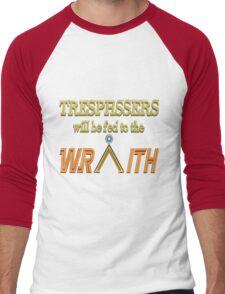 Trespassers Will Be Fed to the Wraith - Dark Backgrounds Men's Baseball ¾ T-Shirt